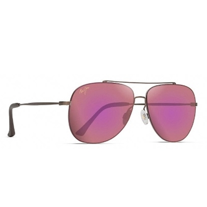 Picture of Maui Jim Cinder Cone Polarized Sunglasses - Satin Sepia/Pink