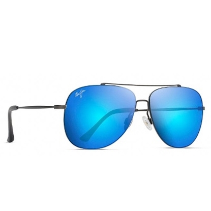 Picture of Maui Jim Cinder Cone Polarized Sunglasses - Silver/Blue