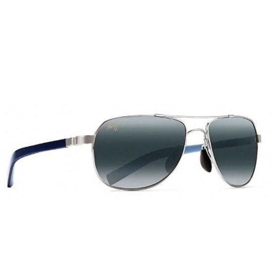 Picture of Maui Jim Guardrail Polarized Sunglasses - Silver/Grey