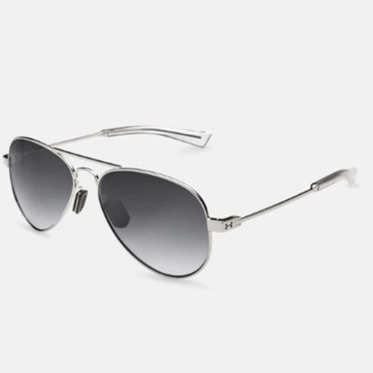 Picture of Under Armour Getaway Sunglasses - Gloss Silver/Gray Gradient