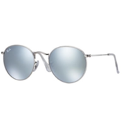 Picture of Ray-Ban® Round Classic Sunglasses with Silver Flash Lens