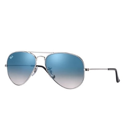 Picture of Ray-Ban® Aviator Sunglasses with Light Blue Gradient Lens