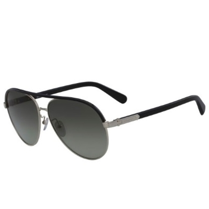 Picture of Salvatore Ferragamo Aviators - Shiny Light Gold/Black