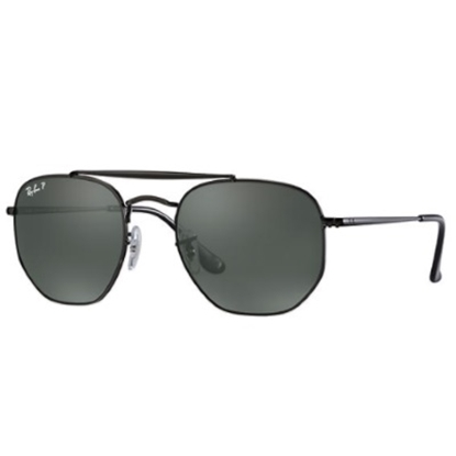 Picture of Ray-Ban Marshal Sunglasses - Black Hexagonal/Gray Polarized