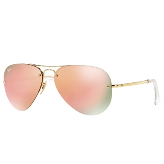 Picture of Ray-Ban® Frameless Sunglasses with Copper Mirror Lens