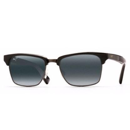 Picture of Maui Jim® Kawika Sunglasses - Black Gloss w/Antique Pewter