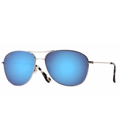 Picture of Maui Jim® Cliff House Sunglasses - Silver/Blue