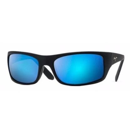 Picture of Maui Jim® Peahi Polarized Sunglasses - Blue/Matte Black