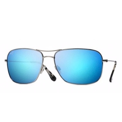 Picture of Maui Jim® Breezway Polarized Sunglasses - Silver/Blue Lens