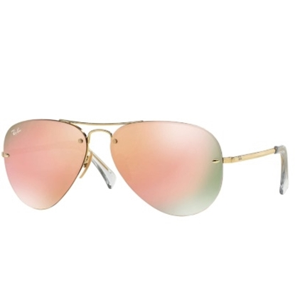 Picture of Ray-Ban® Frameless Sunglasses, with Copper Mirror Lens