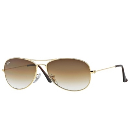 Picture of Ray-Ban® Cockpit Sunglasses - Gold/Light Brown Gradient