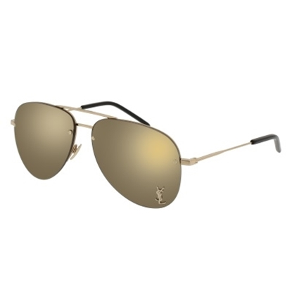 Picture of St. Laurent Unisex Sunglasses - Shiny Gold/Bronze Mirror