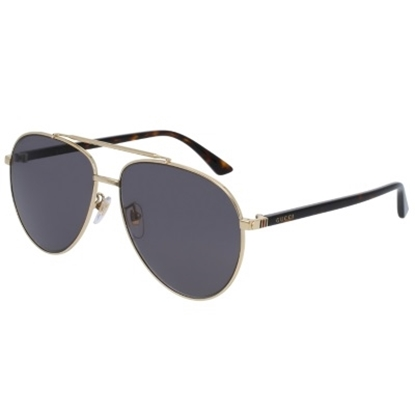 Picture of Gucci Sensual Romanticism Pilot Sunglasses - Havana/Gold