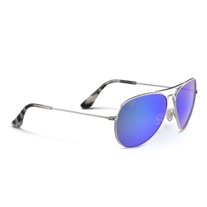 Picture of Maui Jim® Mavericks Sunglasses - Silver/Blue Hawaii