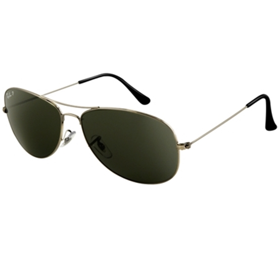 Picture of Ray-Ban® Cockpit Aviator - Green Polarized Lens