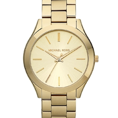 Picture of Michael Kors Runway Slim Gold-Tone Watch