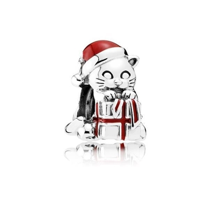 Picture of Christmas Kitten Charm