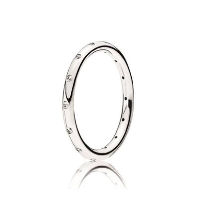 Picture of Pandora® Droplets Clear CZ Ring