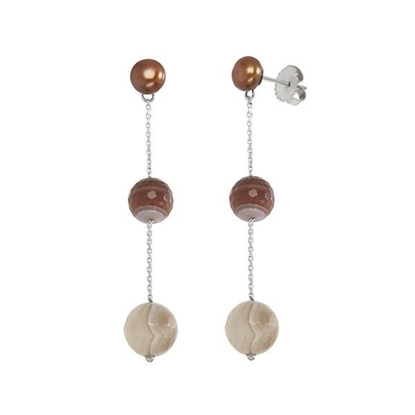 Picture of Vitality Chocolate Drop Pearl Earrings