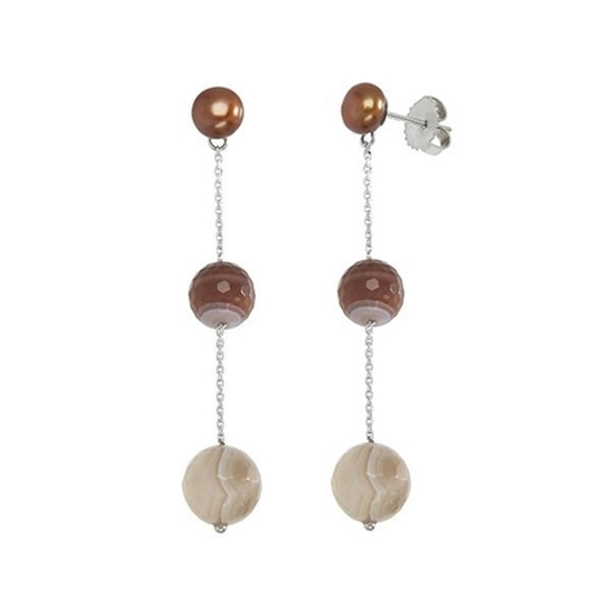 Picture of Honora Vitality Chocolate Drop Pearl Earrings