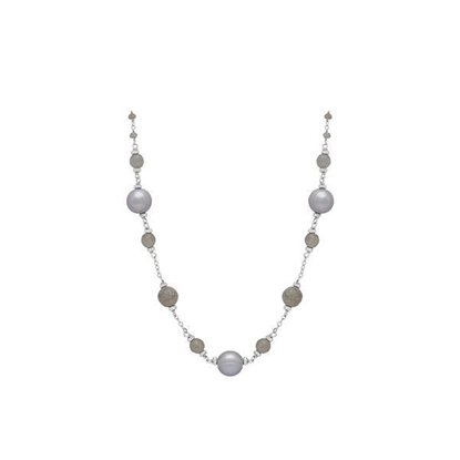 "Picture of 8-9mm Gray Ringed Pearl 18"" Necklace"