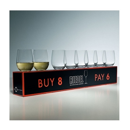 Picture of Riedel 'O' Stemless Set of Eight Wine Glasses - Chardonnay