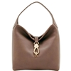 Picture of Belvedere Logo Lock Shoulder Bag - Taupe