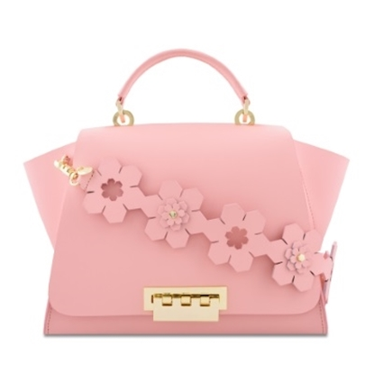 Picture of Zac Posen Eartha Iconic Soft Top with Floral Strap - Rose