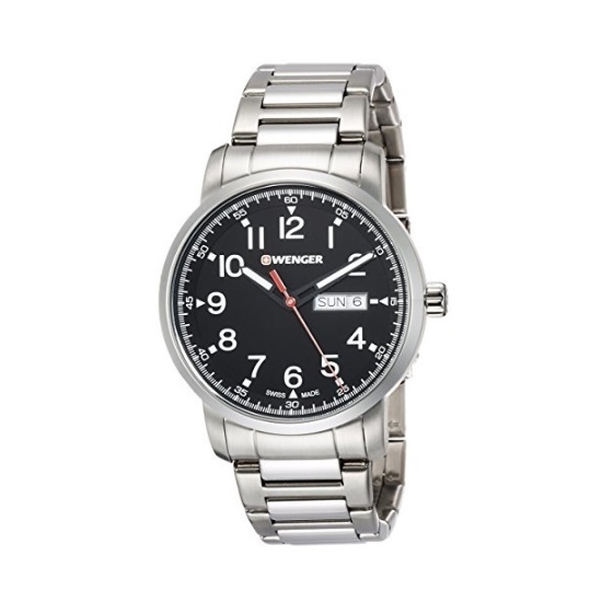 Picture of Wenger Attitude Heritage Stainless Steel Watch with Black Dial