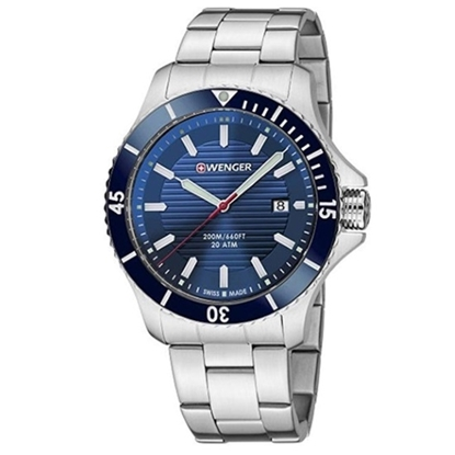Picture of Wenger Seaforce Large Stainless Steel Watch with Blue Dial
