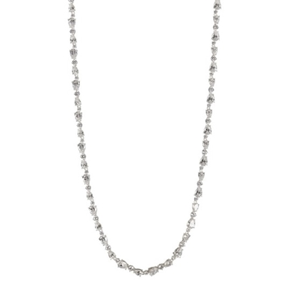 Picture of Nadri Ava Multi-Cut CZ Necklace - Rhodium Plated