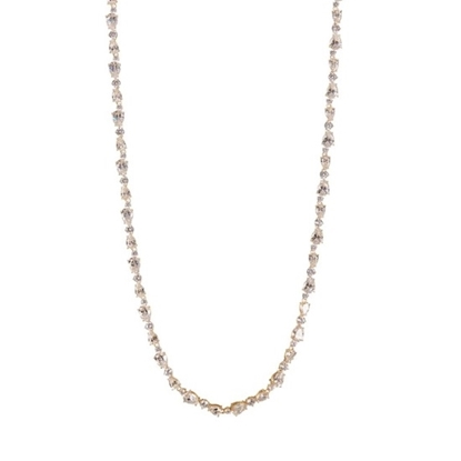 Picture of Nadri Ava Multi-Cut CZ Necklace - 18k Yellow Gold Plated