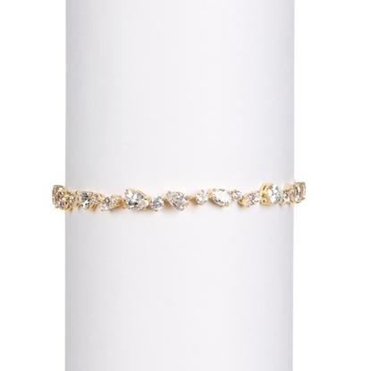Picture of Nadri 18k Gold Plated Ava Multi-Cut CZ Bracelet