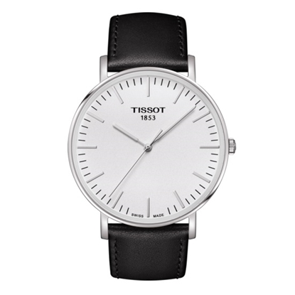 Picture of Tissot Everytime Big Gent Watch with Black Leather Strap