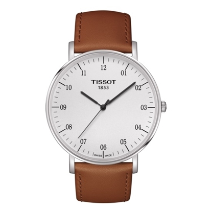 Picture of Tissot Everytime Big Quartz Watch with Brown Strap