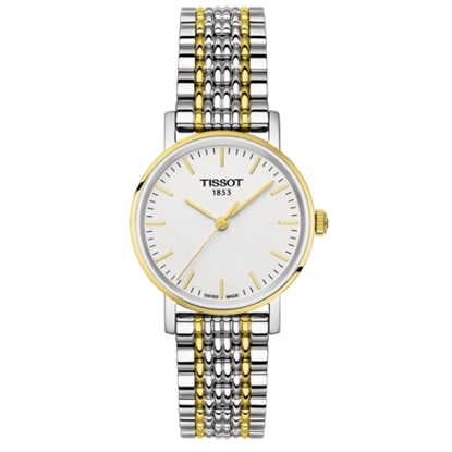 Picture of Tissot Ladies' Everytime Quartz Two-Tone Watch with White Dial