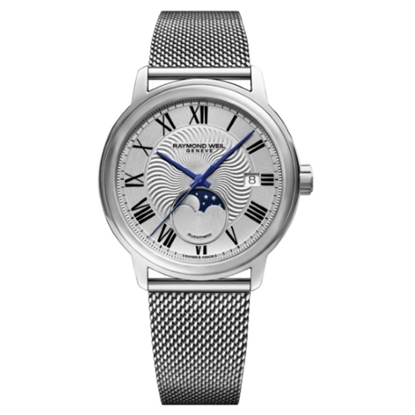 Picture of Raymond Weil Maestro Silver Dial Milanese Watch