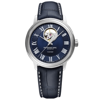 Picture of Raymond Weil Maestro Blue Dial Blue Strap Watch