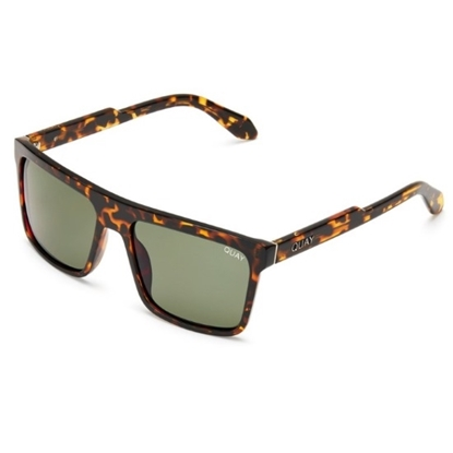 Picture of Quay LET IT RUN Sunglasses - Tortoise/Green