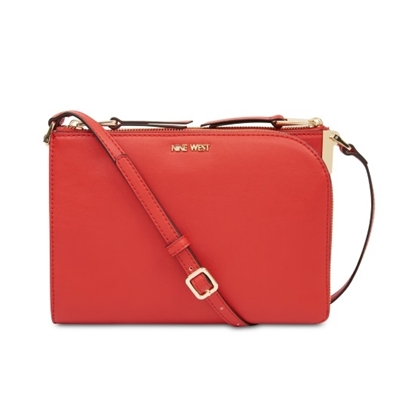 Picture of Nine West Darcelle Medium Crossbody - Fiery Red