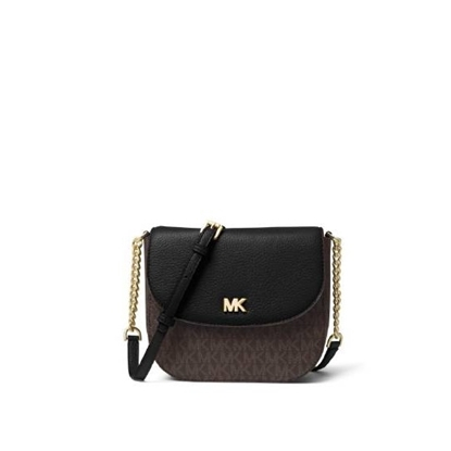 Picture of Michael Kors Signature Half Dome Crossbody - Brown/Black