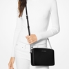 Picture of Michael Kors Large E/W Crossbody - Black with Silver Hardware