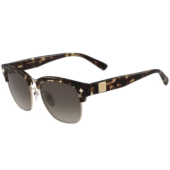 Picture of MCM Clubmaster Logo Sunglasses - Gold/Tortoise