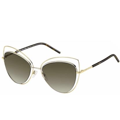 Picture of Marc Jacobs Metal Cat-Eye Sunglasses - Gold/Dark Havana