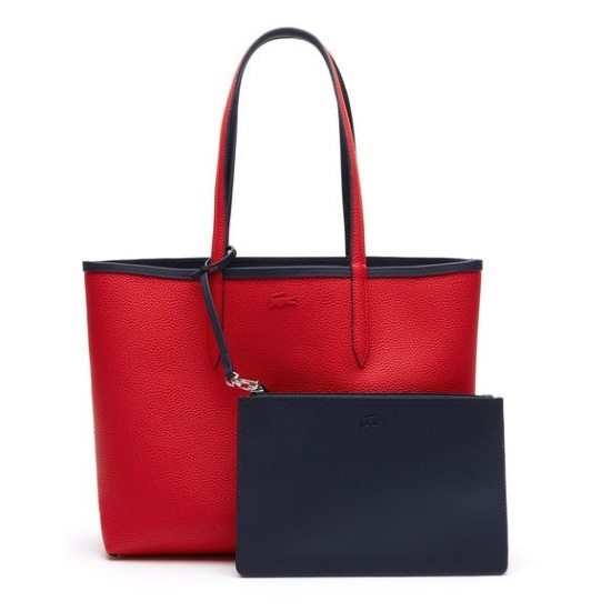 5f52f9530d9 Picture of Lacoste Women's Anna Reversible Shopping Bag - Peacoat/Salsa