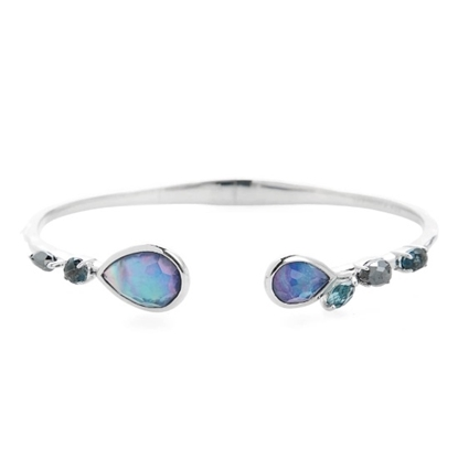 Picture of Ippolita Rock Candy Double Mixed Stone Bangle - Turqoise