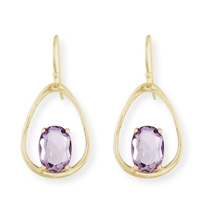 Picture of Ippolita 18K Rock Candy Wire Earring - Dark Amethyst
