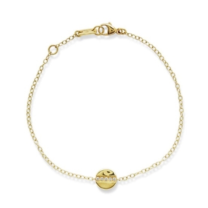 Picture of Ippolita 18K Senso Mini Disc Bracelet with Diamond