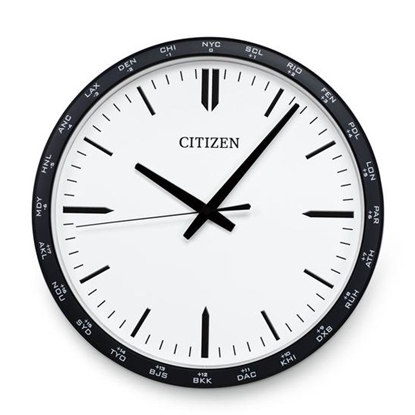 Picture of Citizen Gallery Circle Wall Clock - Black & White
