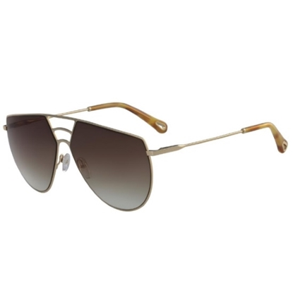 Picture of Chloe Ricky Aviator Sunglasses - Gold/Brown